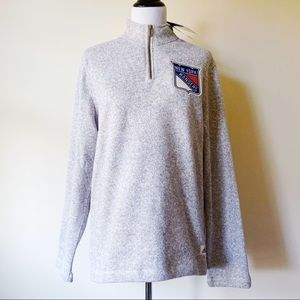 Adidas New York Rangers NHL Quarter Zip Sweater